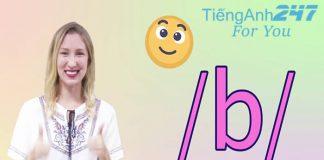 Cách phát âm chữ B trong tiếng Anh