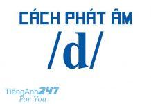 Cách phát âm chữ D trong tiếng Anh