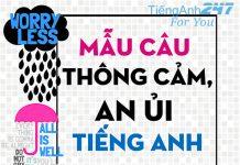 câu nói tiếng Anh thể hiện sự cảm thông