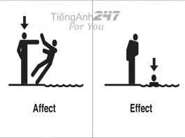 Phân biệt effect và affect