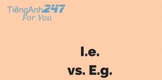 Phân biệt 'i.e.' và 'e.g.'