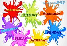 ngày tháng trong tiếng Anh