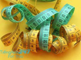 Từ vựng tiếng Anh chủ đề trọng lượng và đơn vị đo lường