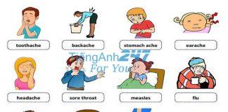 từ vựng tiếng Anh chủ đề bệnh tật và thương tích